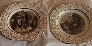 2 porcelain plates in great condition