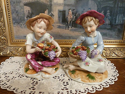 Boy And Girl Fine Porcelain Figurines By Uniart