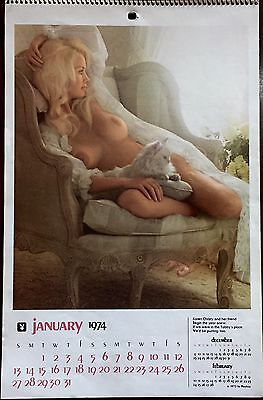 Rare Vintage 1974 Playboy Calendar Centerfold Pin Up