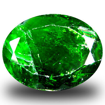13.42 ct  Incomparable Oval Shape (18 x 14 mm) Green Chrome Diopside Gemstone