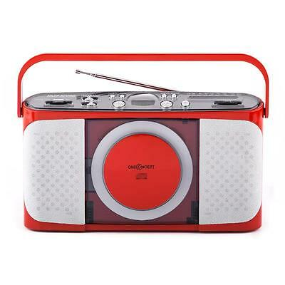 boombox portable cd player with fm am radio black picclick uk. Black Bedroom Furniture Sets. Home Design Ideas