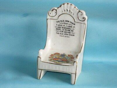 Arcadian China 'The Old Arm Chair' - THE LIZARD crest