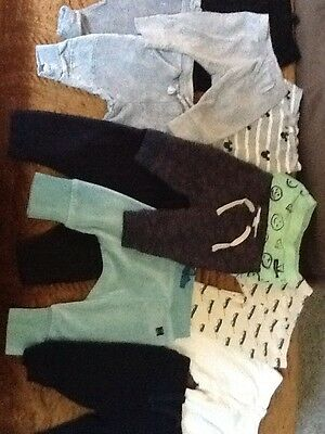 huge lot of 12 pairs of baby boy leggings size 3-6 months