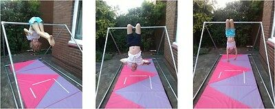 Gymnastics gym training bar NEW 150 cm 5ft high BAR ONLY MAT NOT INCLUDED