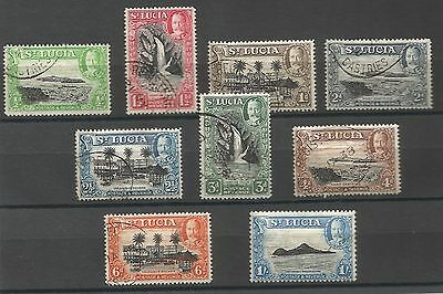 ST LUCIA - George VI 1936 part set to 1/-  fine used