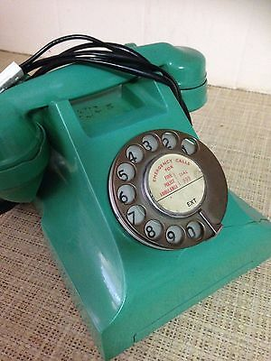 VINTAGE ITI   JADE GREEN  300 Series Telephone
