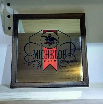 VINTAGE Michelob Beer Bar Mirror Sign Collectable 3D