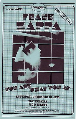 Frank Zappa Concert Handbill You Are What You Is Fox Theatre San Diego 1981 L@@k
