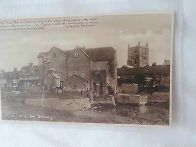 Tewkesbury Gloucestershire Abbey Mill old postcard