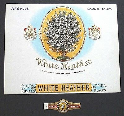 .White Heather cigar label and band