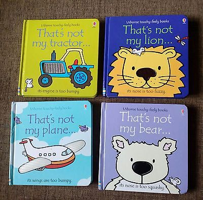 Usbourne Touchy Feely That's Not My bundle Lion Plane Tractor Bear
