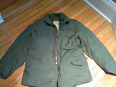 Vtg 70's U.S. Army Military M-65 Cold Weather Field Coat Jacket Medium Regular