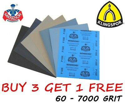 Wet And Dry Sandpaper 60 - 7000 Grit Mixed Paper
