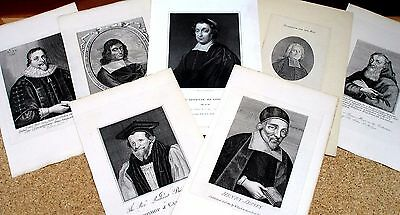 Lot of 7 Men of the Church - Engraved by Various Artists -1790-1840