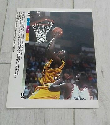 514) Shaquille O'Neil Louisiana state university basketball  press print photo