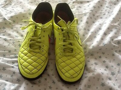 nike tiempo astro turf leather football trainers, UK size 8