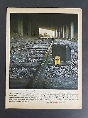 1967 - Pennzoil Motor Oil - The Lonely Oil - Vintage Print Ad