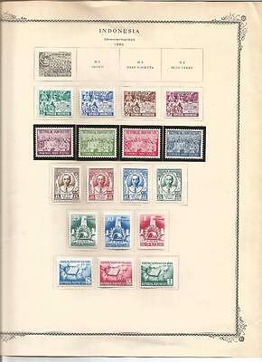 Indonesia - 1955 - Superb fresh mounted mint collection