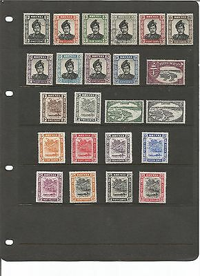 BRUNEI small collection of 1924 -1952 mixed mint and used please see scans