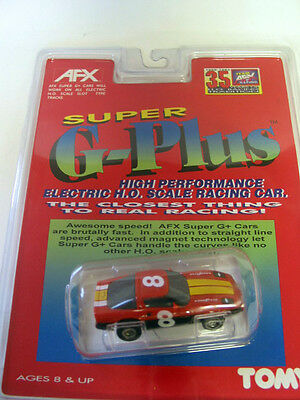 afx super g plus - RED GOODYEAR CORVETTE?  brand new on card - ho scale