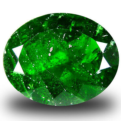 9.67 ct  Premium Oval Shape (16 x 13 mm) Green Chrome Diopside Natural Gemstone