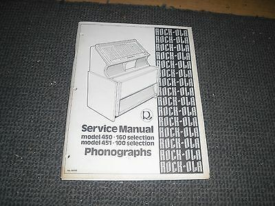 Service Manual für Rock Ola 450 + 451 Musikboxen