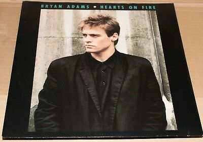 "Bryan Adams - Hearts on Fire 12"" (PS) (1987) - VGC"