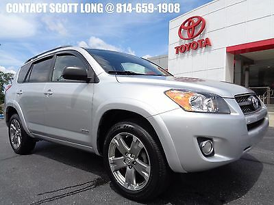 2010 Toyota RAV4 2010 Sport Front Wheel Drive Silver Paint 2010 Rav4 Sport FWD Silver Power Sunroof 1 Owner Clean Carfax Florida Vehicle
