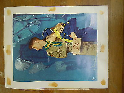 """Norman Rockwell Boys Scout of America BSA Our Heritage Poster Print [ 11""""x14"""" ]"""