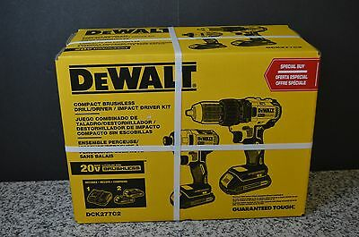 DEWALT 20V Compact Drill & Impact Driver Brushless Kit DCK277C2 (New In Box)