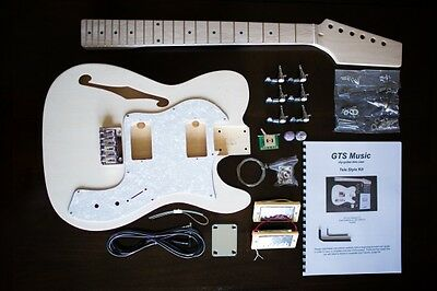 Diy Guitar Kit  Tele Thin Style  - Right Handed