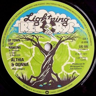 Althia & Donna - Up Town Top Ranking - 1977 LIGHTNING (VG+)