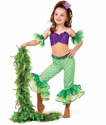 Dance Costume Small Child Aerial Little Mermaid CUTE Solo Competition Pageant