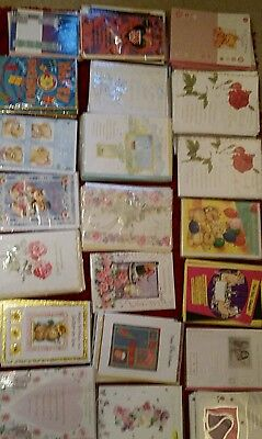 Job lot of 526 mixed greeting birthday cards car boot lot