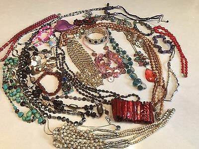 Job Lot Of Costume Jewellery 803grams