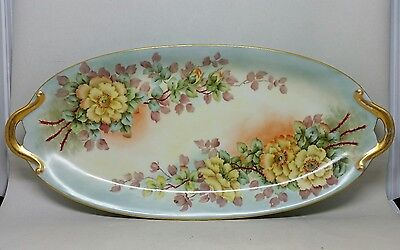 Antique Limoges France Porcelain Hand Painted Tray Signed J.G. CROFT VNM