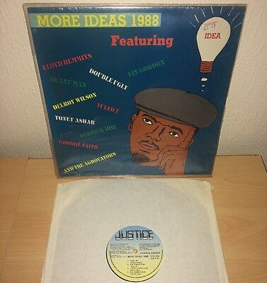 """VARIOUS ARTISTS More Ideas 1988 JUSTICE RECORDS 12"""" LP FAST POST EX"""