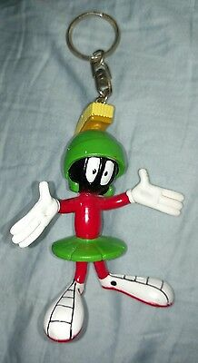 *RARE*MARVIN THE MARTIAN*PVC POSABLE FIGURE KEYCHAIN*Keychain*WB*Bendy flexible*