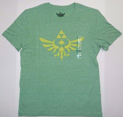The Legend of Zelda Triforce Symbol T-Shirt Green Athletic Fit Nintendo Game New