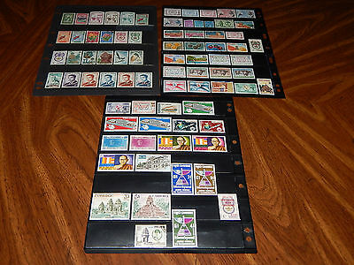 Cambodia stamps - BIG lot of 77 mint hinged and used early stamps - super !!