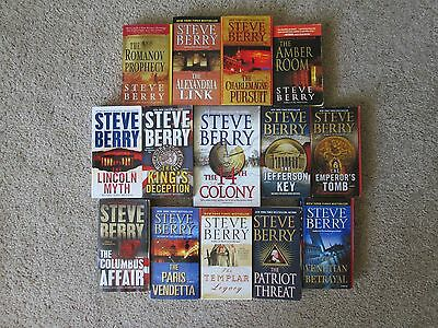 Lot of 14 STEVE BERRY Thriller Paperbacks, The COTTON MALONE Series, 14th Colony