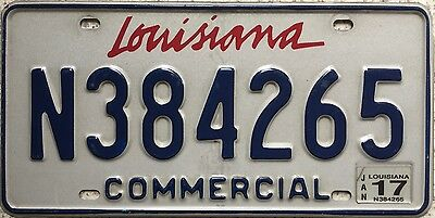 GENUINE American Louisiana Commercial USA License Number Plate N384265