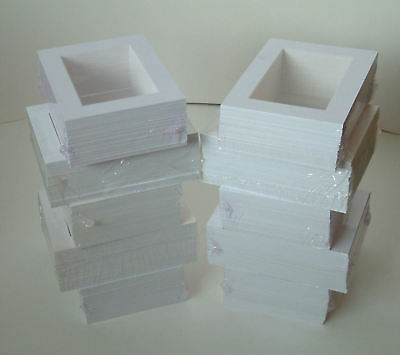 "SALE-100 WHITE PICTURE MOUNTS 8 x 6"" for 6 x 4"""