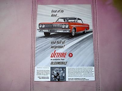 1963 Oldsmobile  Jetfire Coupe - Original Print Car Ad - Excell Condition