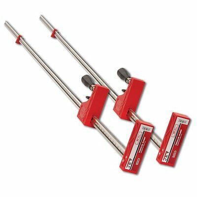 "Jet 70460-2 60"" Parallel Clamp Bessey 2 Fixed Pack Exclusive Slide-Glide Trigger"