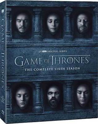 Game of Thrones: The Complete Sixth Season 6 (DVD, 2016, 5-Discs Set) New