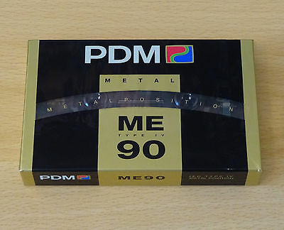 PDM ME90 Blank METAL Cassette Tape Vintage TYPE IV 4 Brand New Sealed