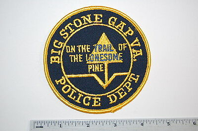 Old Big Stone Gap Virginia Police Dept Patch