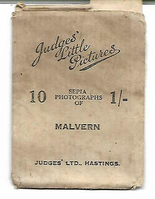 Early 1900s Complete Set 10 x  Sepia Photo snapshots of MALVERN, by Judges