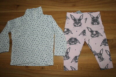 NEXT girls top BUNNY leggings outfit bundle 6-9 months *I'll combine postage